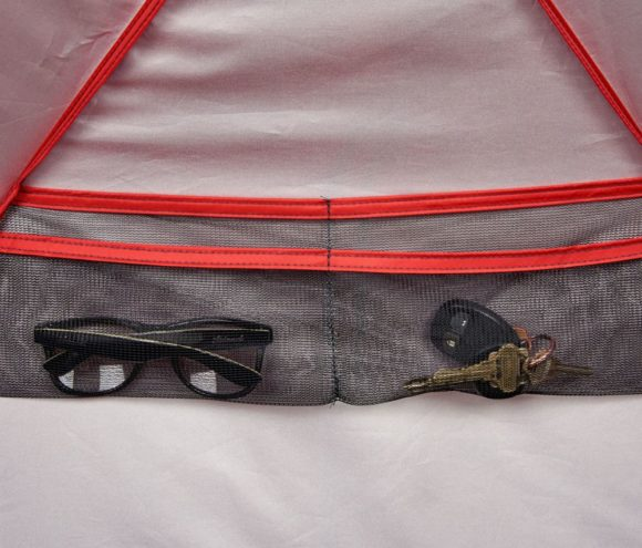 Wedge pocket for accessories